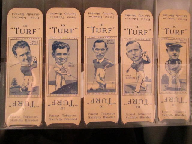 Cigarette Cards: Turf 10 'Sports Series' cardboard outers