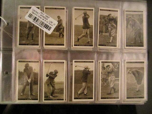 Cigarette Cards: WA & CA Churchman 'Famous Golfers' circa 1927