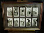 A collection of modern or reproduction cigarette golfing cards