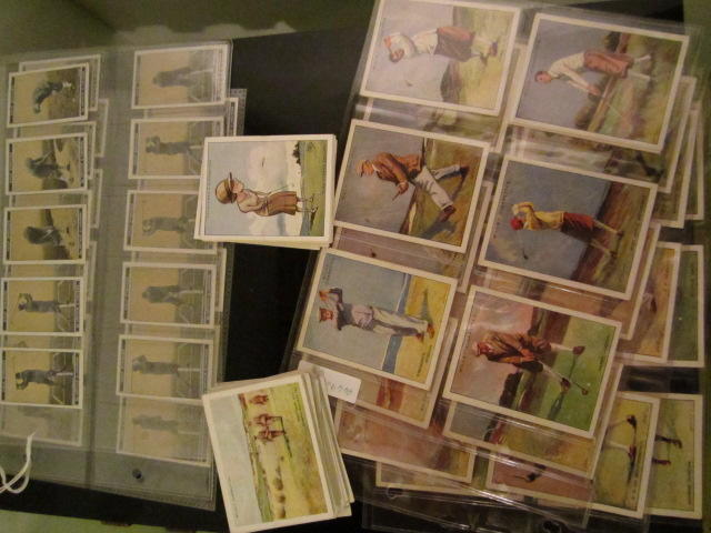 Cigarette Cards: A collection of various pre war series