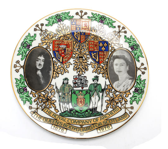 Of Royal Company of Archers interest, A commemorative plate