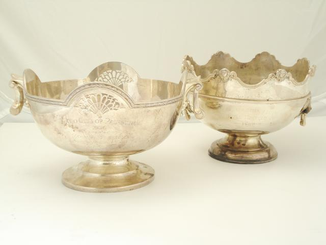 A silver presentation bowl by Mappin & Webb, Sheffield 1930  (2)