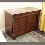 A Second Empire mahogany chest