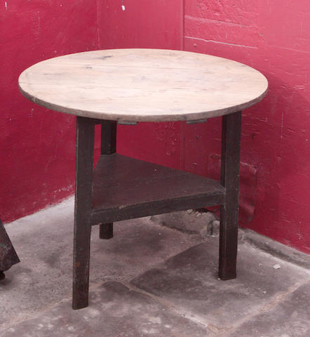 A 19th century pine cricket table