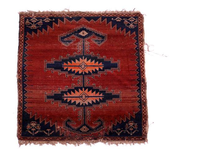 A Caucasian rug 132cm x 100cm.