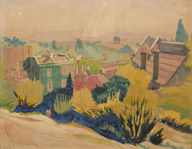 Harry Kernoff R.H.A. (Irish, 1900-1974) Views on Hampstead Heath each 24.5 x 31cm (9 3/4 x 12 1/4in) (2)