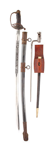 A reproduction Confederate States Army Trooper's sword,