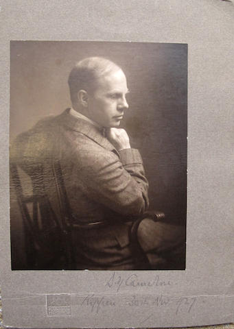 CAMERON (DAVID YOUNG) A mounted photograph of D.Y Cameron