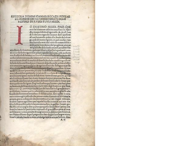 BOCCACCIO (GIOVANNI) Comedie, 1503