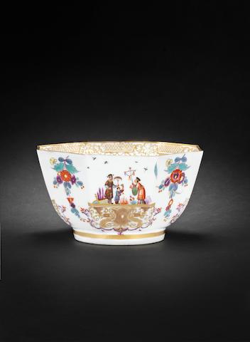 A Meissen slop bowl circa 1735-40
