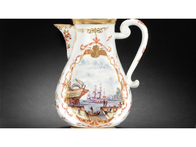 A very rare early Meissen part tea and coffee service, circa 1722-25