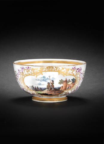 A Meissen sugar bowl, circa 1740