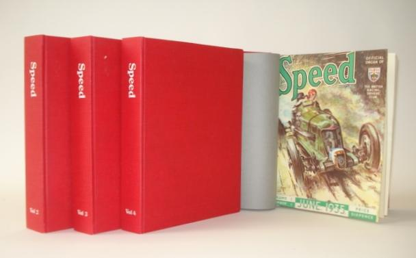 Speed magazine, bound Volumes 1 to 4,
