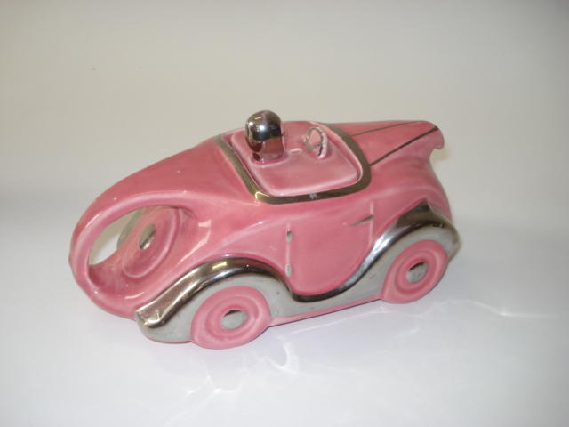 Pink Sadlerware OKT42 teapot with lid, British, 1930s,