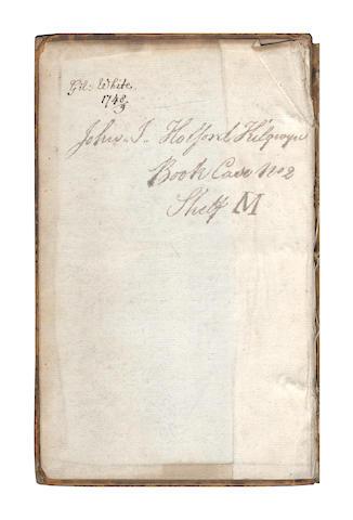 WHITE (GILBERT) MILLER (PHILIP) The Gardener's Dictionary, 3 vol., WHITE'S Copy INSCRIBED, 1748