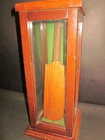 1956 Australia hand signed miniature bat