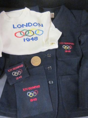 1948 Olympics items- G.B. Olympian Margaret Sant