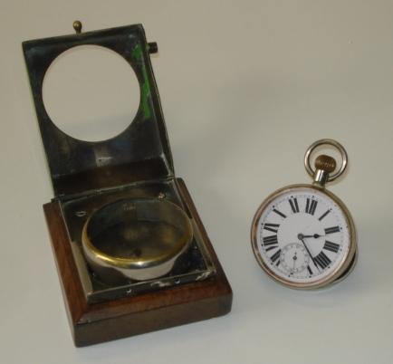 A Vintage dashboard mounting Doxa motoring pocket watch, Swiss,