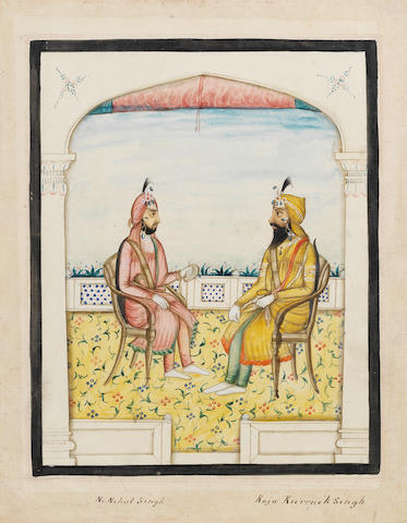 A series of twelve watercolours depicting Sikh rulers and other notables, and other Punjabi and North Indian figures Punjab, mid-19th Century(12)
