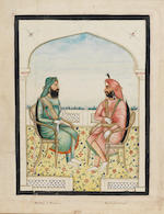 A series of 12 watercolours depicting Sikh rulers and other notables, as well as Punjab figures Punjab, mid-19th Century(12)