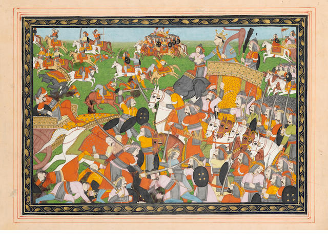 A Kangra battle scene