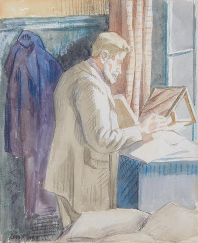 Thérèse Lessore (French, 1884-1945) Walter Sickert at his papers