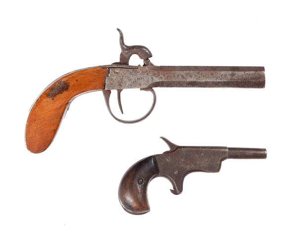A percussion pocket pistol,