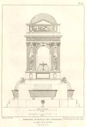 PINEUX-DUVAL (PIERRE AMAURY) Les fontaines de Paris, anciennes et nouvelles, [1812]