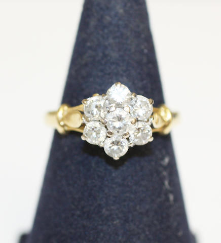 7 STONE DIAMOND CLUSTER RING