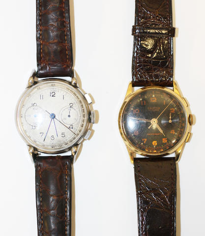Two mid-20th century chronograph wristwatches 2