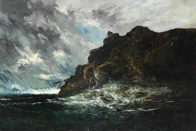 Louis-Auguste Auguin (French, 1824-1904) Mer dechaînée