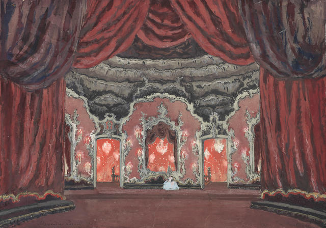 Alexandre Benois (Russian, 1870-1960) Stage design for Ravel's La Valse