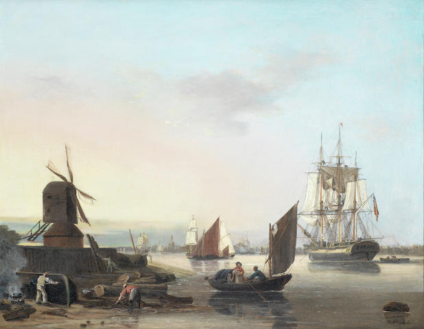 George Webster (British, 1797-1864) On the Lower Thames