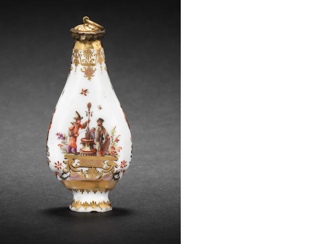 A Meissen scent flask circa 1735