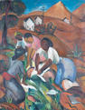 Irma Stern (South African, 1894-1966) 'Washer Women'