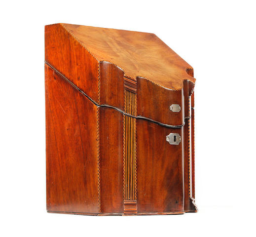 A George III mahogany knife box