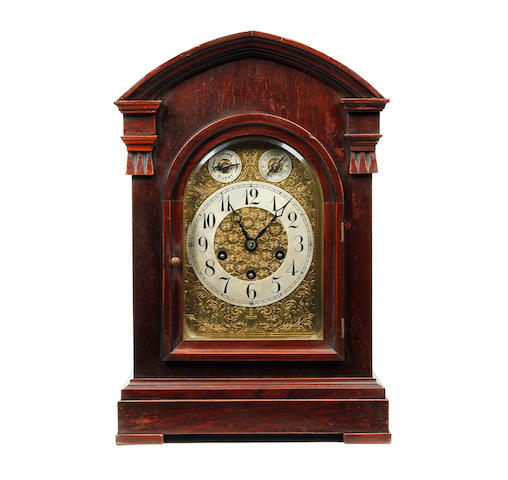 A Victorian mahogany bracket clock with Westminster chime Anonymous