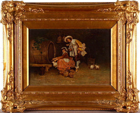 G.Lombardo, (19th Century) Wine tasting
