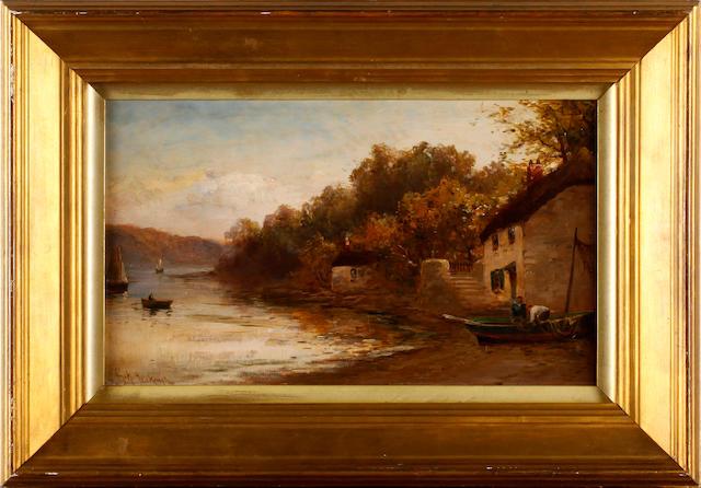 George Henry Jenkins (British, 1843-1914) River scene