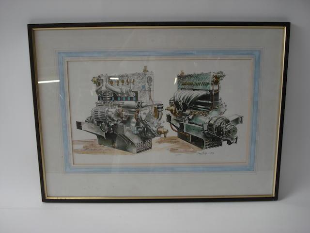 Alan Crisp (1924-), 'Bugatti', 1976,