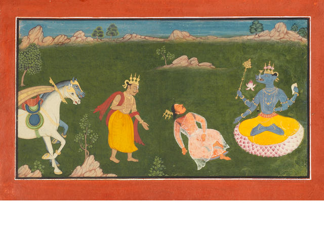 A scene with an avatar of Vishnu... Pahari, early 19th Century