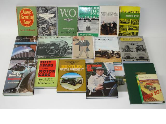 Books relating to vintage Bentley,