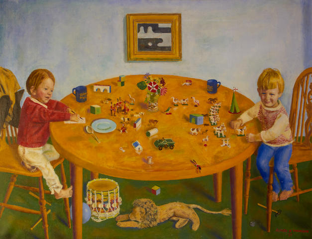 Alfred Reginald Thomson (British, 1895-1979) Children's Playtime