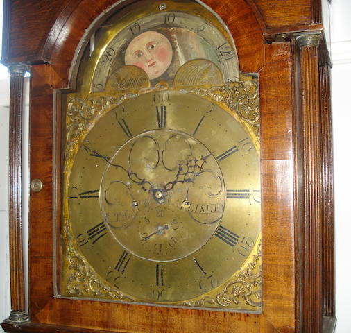 A late 18th Century 8-day longcase clock with brass dial