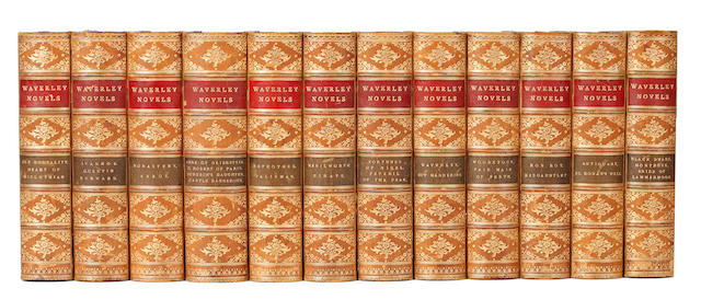 BINDINGS SCOTT (WALTER) Waverley Novels, 12 vol.