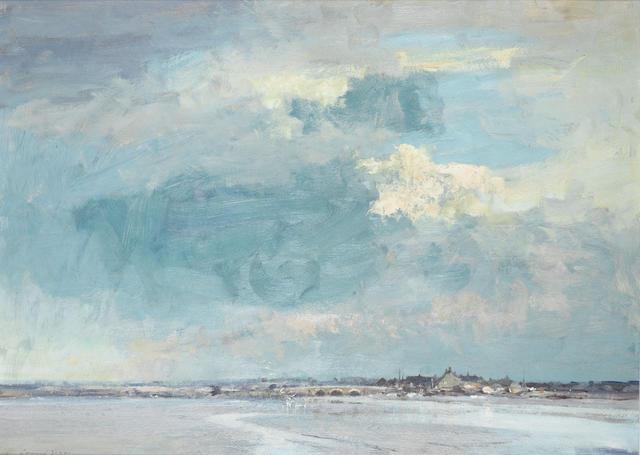 Edward Seago R.W.S. (British, 1910-1974) Low Water, Manningtree - Essex 66.5 x 91.4cm ( 26 1/5 x 36in).