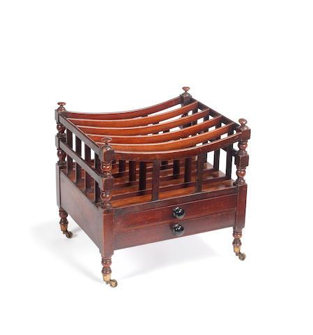 A Late Regency mahogany canterbury
