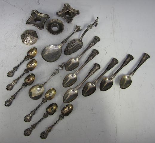 A set of six silver tea spoons London 1818  (Qty)