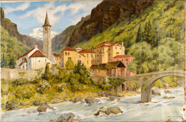 A. Victor Coverley-Price (British, 1901-1988) Ticino, Swizterland