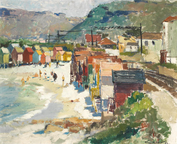 "Terence John McCaw (South African, 1913-1978) Beach at Kalk Bay, , 19"" x 23"""